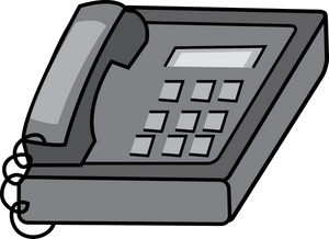 desk phone clipart
